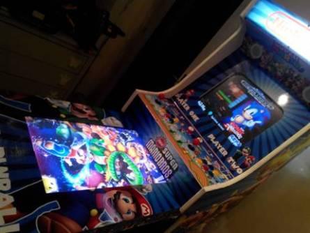 Borne arcade virtua-flipper / ouverte