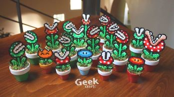 bead sprite Geek Crafts plantes Mario