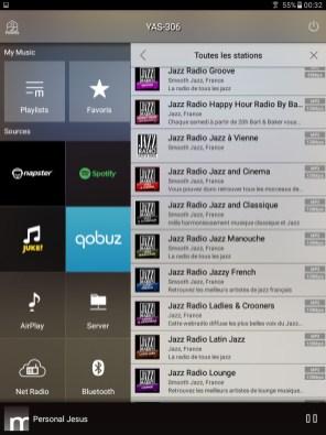application Yamaha MusicCast