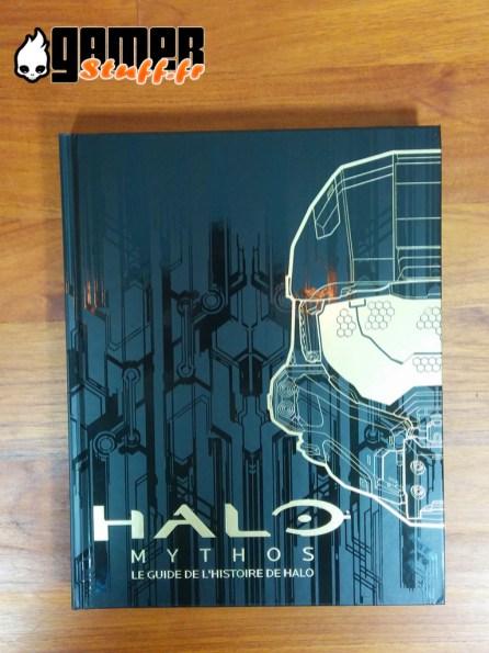 Couverture livre guide officiel l'histoire de Halo- Mythos