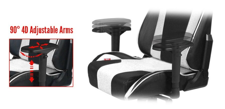 DXRacer-King-adjustable-arms