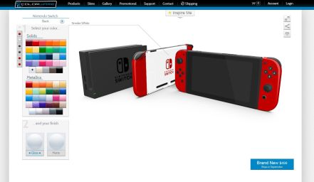 Configurateur Nintendo Switch tablette Colorware