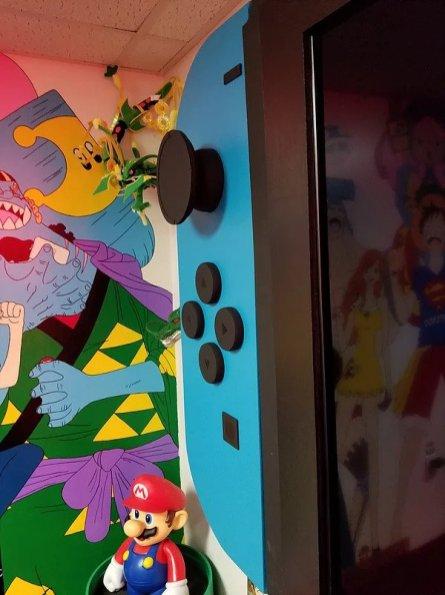 nintendo Switch géante - TV 65 pouces