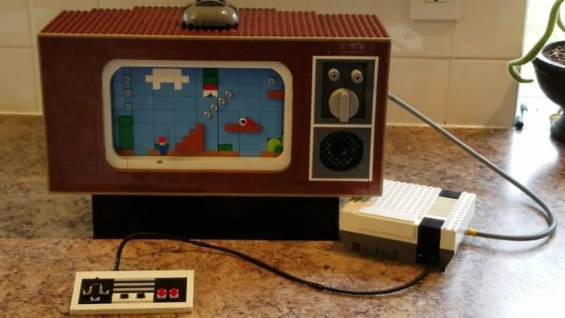 lego Nintendo NES tv vintage