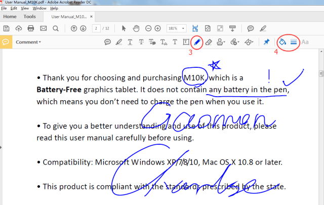 How to Use Pen Tablet to Handwrite words in PDF  GAOMON Q&A
