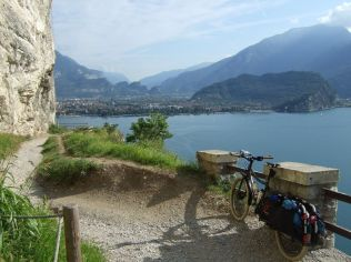 Day 5: Old gravel track down to Lago di Garda