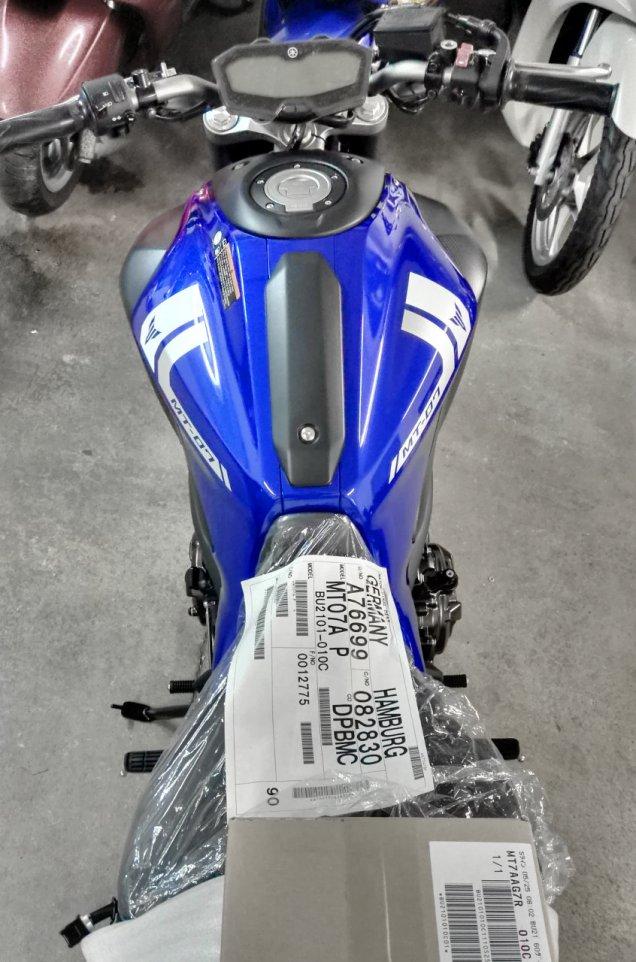 Yamaha MT-07 2017 blau