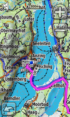 Screenshot Garmin Oregon Velomap OSM