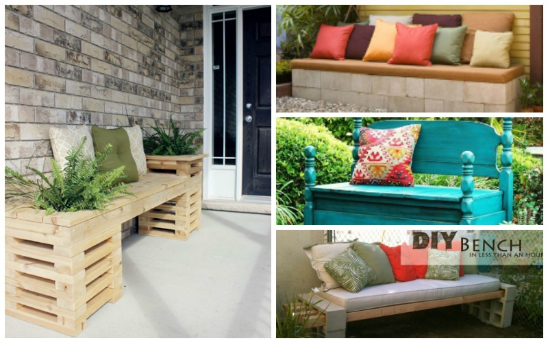 20 diy garden bench