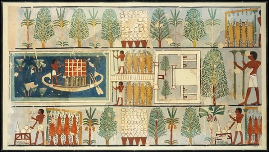 ancient Egyptians gardening