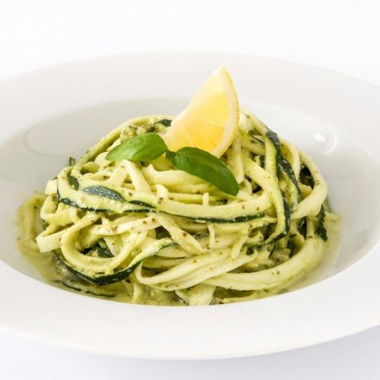 zucchini noodles with lemon verbana