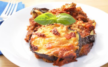 Eggplant Parmesan on a plate