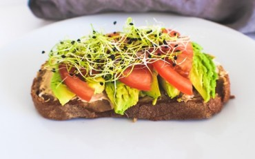 Tomato Avocado and Sprout Sandwich