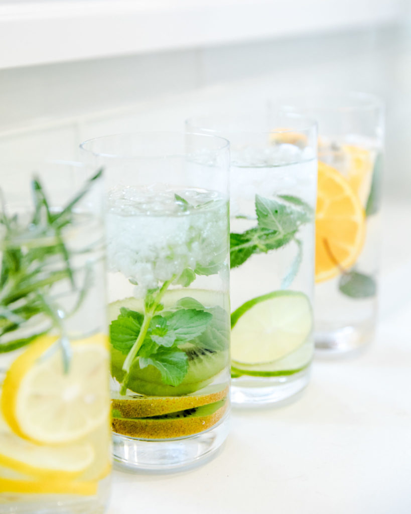 Flavored Sparkling Water With Herbs