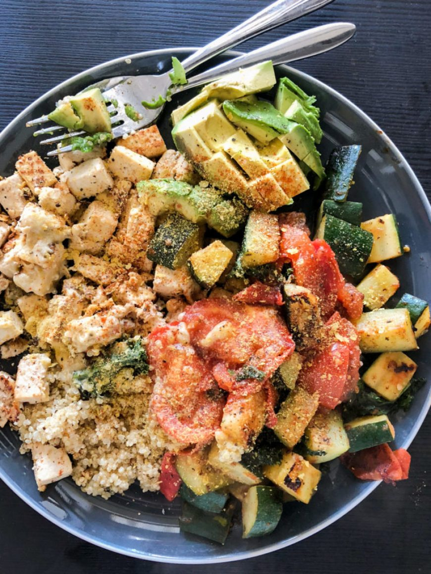 Tofu Quinoa Salad