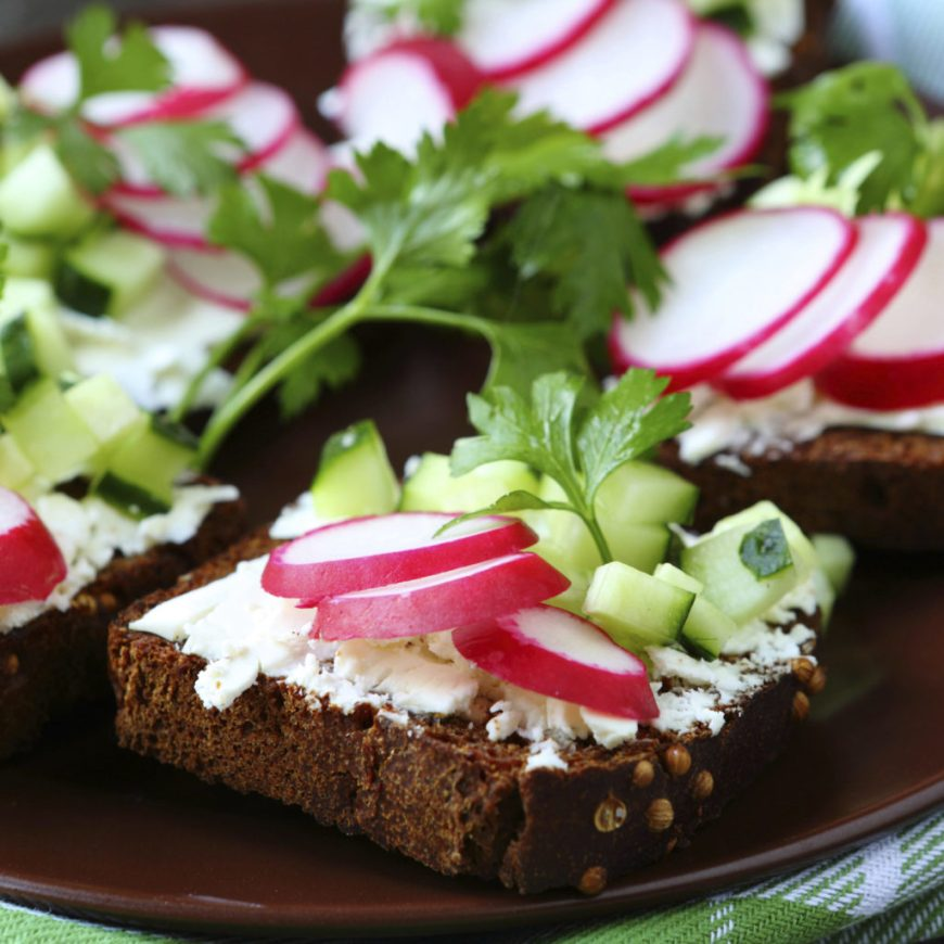 radish tea sandwich recipe