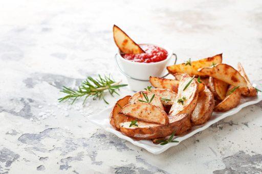 Seasoned potatoes with rosemary