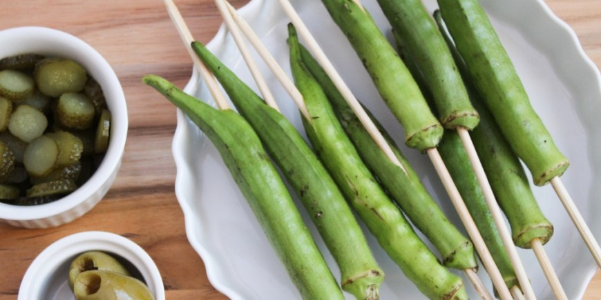 ways to use okra on a skewer