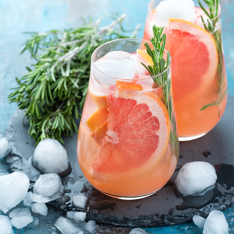 Grapefruit Rosemary Honey Cocktail