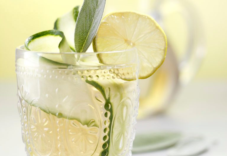 Champagne Punch with Sage, Lemon and Ginger
