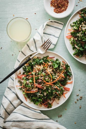 Plant Based Diet Recipes: Quinoa Kale Salad