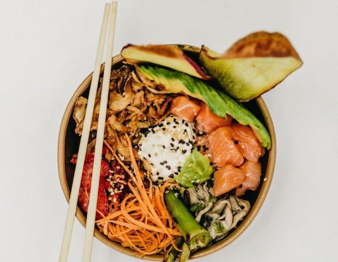 Cilantro Salmon Sushi Bowl