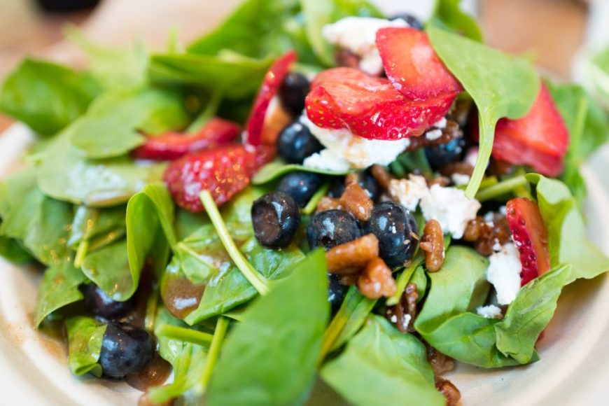 Heart Healthy Recipe - Blueberry Spinach Salad