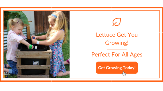 Children Planting a Garden Kit for Earth Day Home School Activities