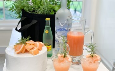 Rosemary Greyhound Cocktail with Gardenuity Cocktail Garden
