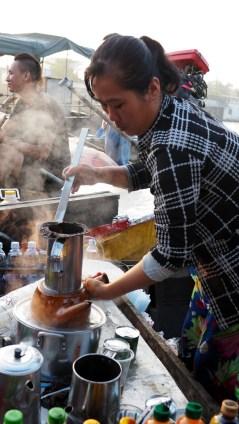 Cái Răng: plávajúci trh, čaj