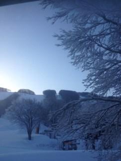 冷え込んで夜から雪!3日目は面ツル〜♪
