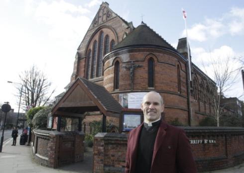 Rev Andrew Cain, vicar of St James church