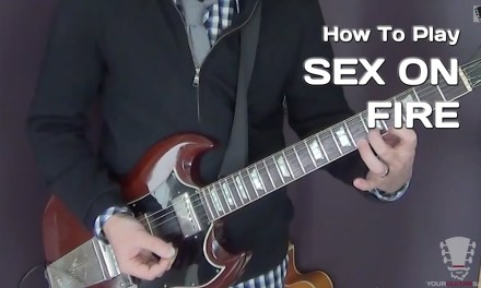 Sex On Fire by Kings Of Leon – Electric Guitar Lesson