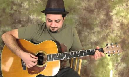 Acoustic Blues Guitar Lessons – Blues Jamtrack in E to practice guitar solos