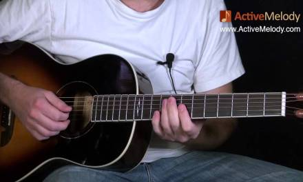Blues Guitar Lesson on Acoustic Guitar – Big Band, Swing Style: EP008
