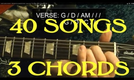 40 EASY Rock Songs, THREE Chords! – Guitar Lesson