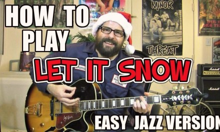 Let it Snow – easy jazz lesson