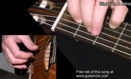 Study in A minor – classical guitar + TAB! Learn to play guitar lesson