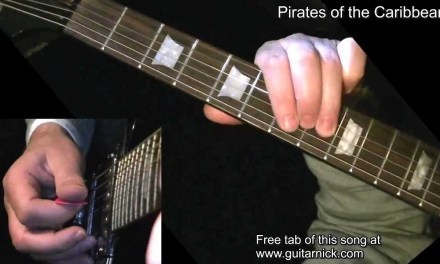PIRATES OF THE CARIBBEAN: Electric Guitar Lesson + TAB by GuitarNick