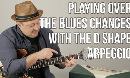 Using Arpeggios For Playing Over Blues Changes – Blues Guitar Lessons – Solo