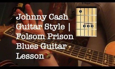 Johnny Cash Guitar Style | Folsom Prison Blues Guitar Lesson