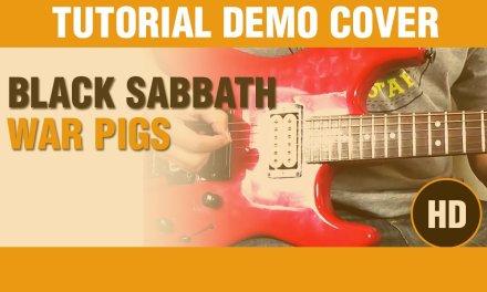 How to play War Pigs – BLACK SABBATH  – Electric Guitar GUITAR LESSON  – DEMO COVER