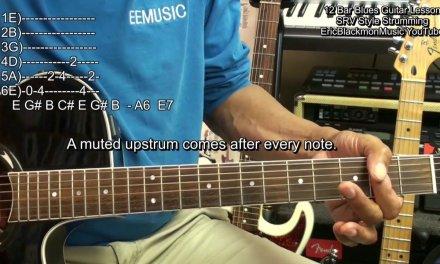 SRV Style 12 Bar Blues Guitar Shuffle Strum REVISED Lesson EricBlackmonGuitar HD