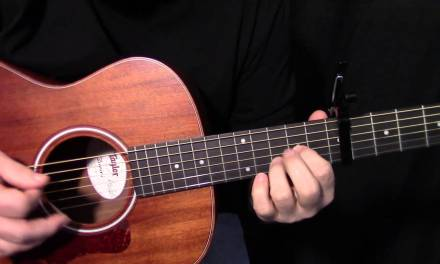 """how to play """"Here Comes the Sun"""" by The Beatles_George Harrison – acoustic guitar lesson"""
