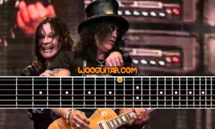 "Slash ""Godfather theme"" Guitar Cover Lesson"