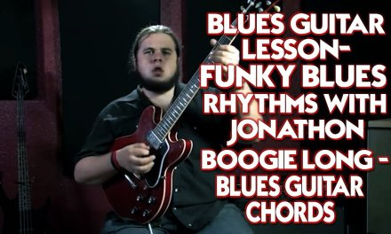 Blues Guitar Lesson – Funky Blues Rhythms Chords with Jonathon Boogie Long