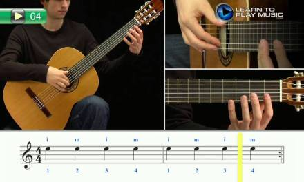 Ex004 How to Play Classical Guitar for Kids – Classical Guitar Lessons for Kids Book 1