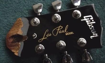 Gibson Les Paul Electric Guitar Snapped Neck Headstock Repair