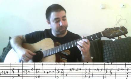 Tutorial: Autumn Leaves – Fingerstyle Guitar + Walking Bass – w/ TAB