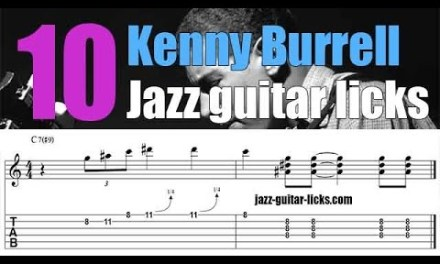 10 easy Kenny Burrell jazz guitar licks | Lesson with tabs